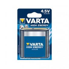 VARTA HIGH ENERGY ALKALINE 4.5V/3LR12 PLATTE BATTERIJ BLISTER 34912