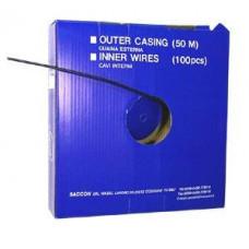 SACCON BOX REM BUITENKABEL TEFLON 50 METER ZWART 5MM DT45005C