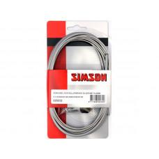 SIMSON 020232 REMKABEL ROLLERBRAKE COMPLEET ZILVER 140131