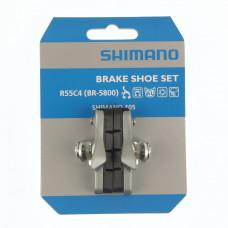 SHIMANO REMBLOKKENSET BR 5800 RACE ZILVER Y88T98040 OP KAART