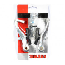 SIMSON 021807 SET V-BRAKE REMMEN GESCHIKT VOOR EN ACHTERREM OP KAART