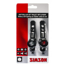 SIMSON 022009 BATTERIJ LED SET BULLET 1 LED'S 2.5/1.5 LUX