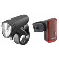 AXA GREENLINE 15 LUX VERLICHTINGSET USB OPLAADBAAR OP KAART