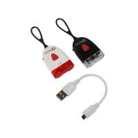 QT CYCLE TECH VERLICHTINGSSET USB MET ELASTIEK EN 0100860